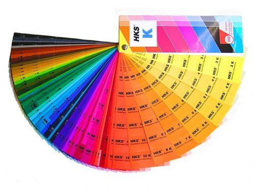 Beispiel für einen HKS-K-Farbfächer