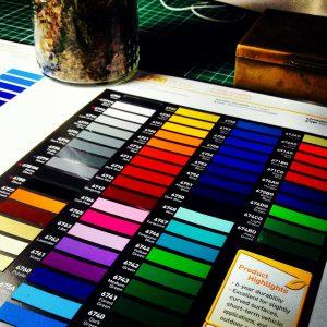 Beispiel für eine Pantone-Farbtabelle