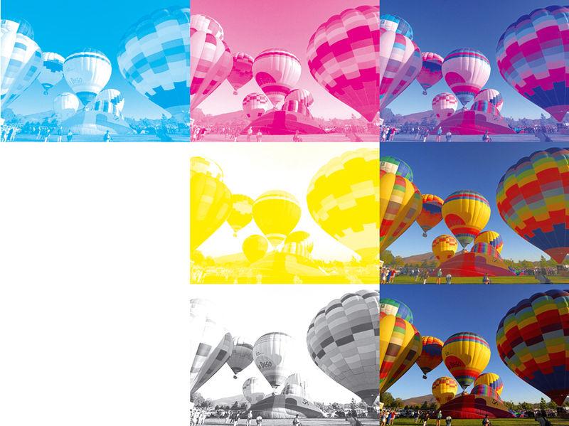 Bild in CMYK-Farben separiert