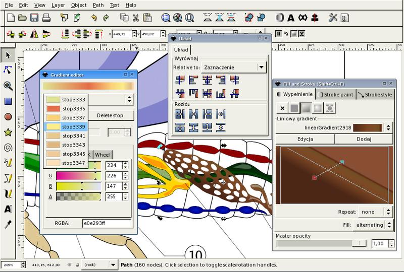 Darstellung einer Vektorgrafik in Inkscape