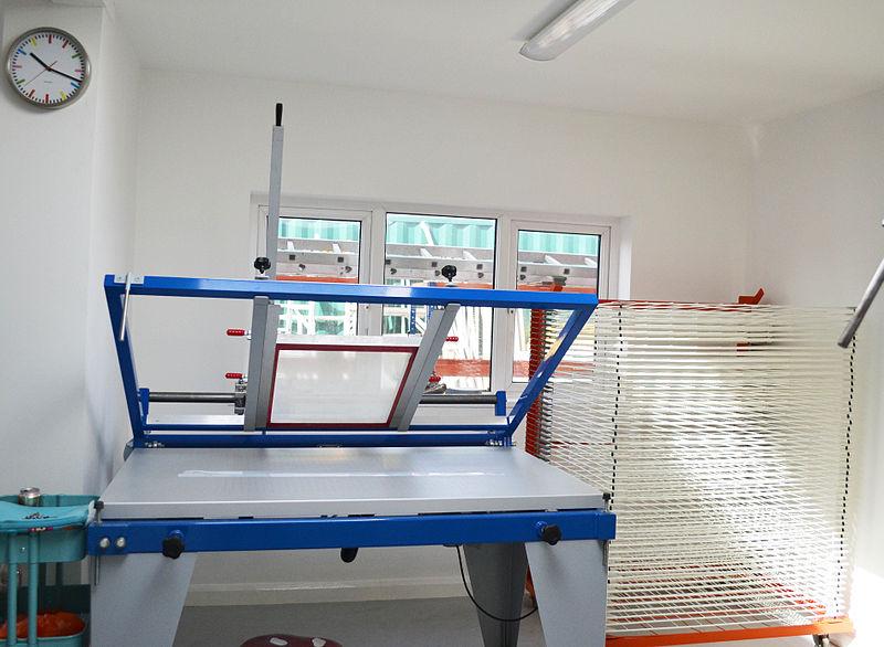 Beispiel für einen Handdrucktisch