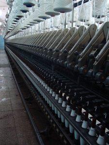 Abbildung Spinnereimaschine