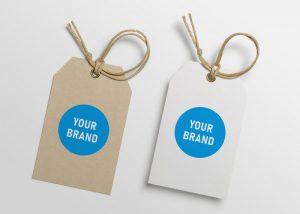 "POD-Branding: Papier-Hangtags mit Logo ""Your Brand"""