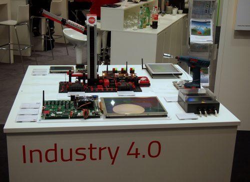 Industrie-4.0-Modell in Form einer Fishertechnik-Produktionsanlage